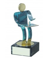 Toledo Chess Handmade Metal Trophy