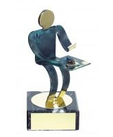 Toledo Dominoes Handmade Metal Trophy