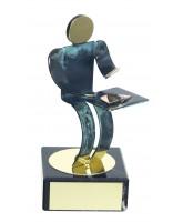 Toledo Poker & Card Game Handmade Metal Trophy