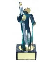 Toledo Skiing Handmade Metal Trophy