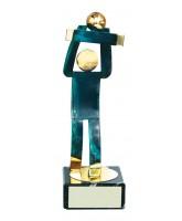 Toledo Volleyball Handmade Metal Trophy