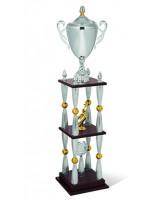 Gigante Four Column Silver Trophy Cup
