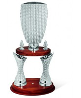 Veloce Two Column Silver Resin Trophy