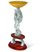 Venezia Two Column Silver & Gold Resin Trophy