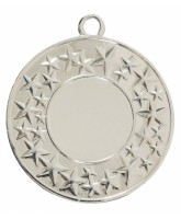 Cluster Star Logo Insert Silver Medal