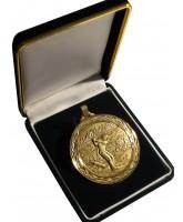 Deluxe Velour Medal Box Black 50mm