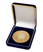 Deluxe Velour Medal Box Blue 52mm