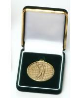 Deluxe Velour Medal Box Green 50mm