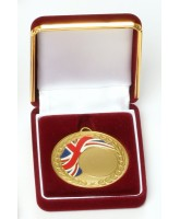 Deluxe Velour Medal Box Red 50mm
