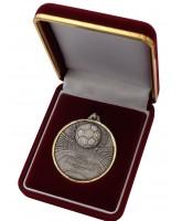 Deluxe Velour Medal Box Red 52mm