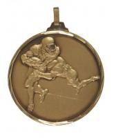 Diamond Edged American Football Bronze Medal
