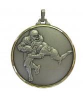 Diamond Edged American Football Silver Medal