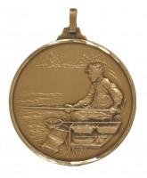 Diamond Edged Angling Fishing Bronze Medal
