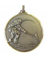 Diamond Edged Angling Fishing Silver Medal