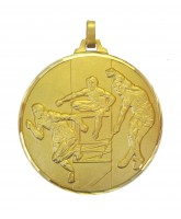 Diamond Edged Athletics Track and Field Gold Medal