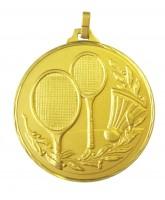 Diamond Edged Badminton Gold Medal