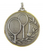 Diamond Edged Badminton Silver Medal