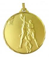Diamond Edged Basketball Players Gold Medal