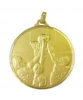 Diamond Edged Basketball Slam Dunk Gold Medal