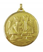Diamond Edged Chess Gold Medal