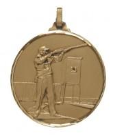 Diamond Edged Clay Pigeon Skeet Shooting Bronze Medal
