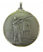 Diamond Edged Clay Pigeon Skeet Shooting Silver Medal