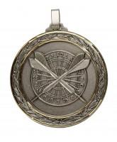 Diamond Edged Darts Large Silver Medal