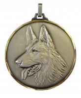 Diamond Edged Dog Head Silver Medal