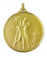 Diamond Edged Female Basketball Gold Medal