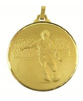 Diamond Edged Football Player Gold Medal