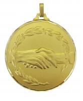 Diamond Edged Handshake Gold Medal