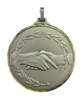 Diamond Edged Handshake Silver Medal
