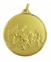 Diamond Edged Ice Hockey Gold Medal
