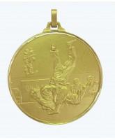 Diamond Edged Judo Sensei Gold Medal