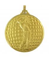 Diamond Edged Male Golf Ball Gold Medal