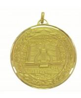 Diamond Edged Music Notes Gold Medal