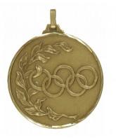 Diamond Edged Olympic Emblem Bronze Medal