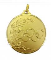 Diamond Edged Olympic Emblem Gold Medal
