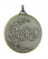 Diamond Edged Olympic Emblem Silver Medal