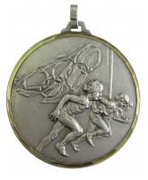 Diamond Edged Olympic Running Silver Medal
