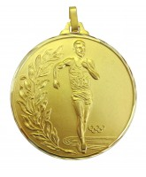 Diamond Edged Olympic Walking Event Gold Medal