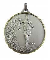 Diamond Edged Olympic Walking Event Silver Medal