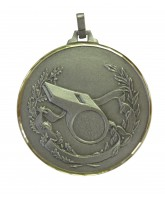 Diamond Edged Referee Whistle Silver Medal