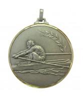 Diamond Edged Rowing Silver Medal