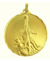 Diamond Edged Rugby Line Out Gold Medal