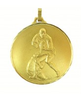 Diamond Edged Rugby Tackle Gold Medal