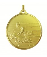 Diamond Edged Swimming Male Front Crawl Stroke Gold Medal
