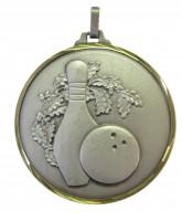 Diamond Edged Ten Pin Bowling Silver Medal