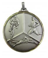 Diamond Edged Triathlon Silver Medal