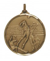 Diamond Edged Volleyball Bronze Medal